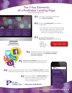 In the Public Eye - 7 Elements of a Landing Page